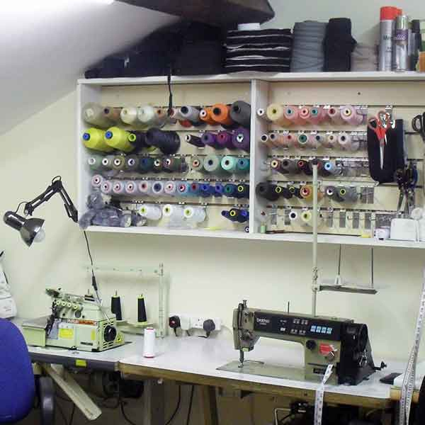 Village Tailors workshop for bespoke suits, jackets, trousers, shirts and coats