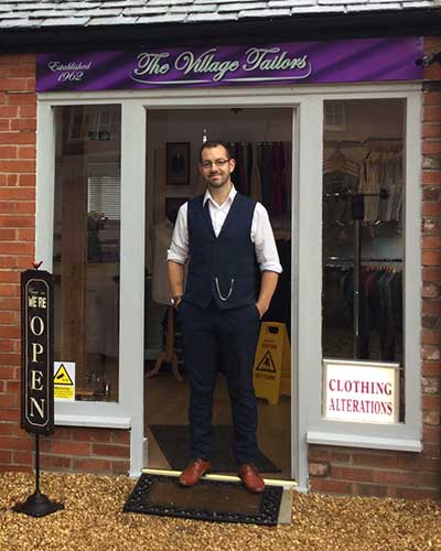 David Shane Moore, tailor and owner of the Village Tailors